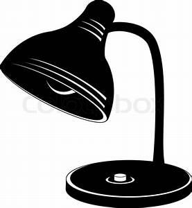 Lampe Schwarz Weiß : tabelle retro elektrische lampe silhouette schwarz und wei vektorgrafik colourbox ~ Frokenaadalensverden.com Haus und Dekorationen