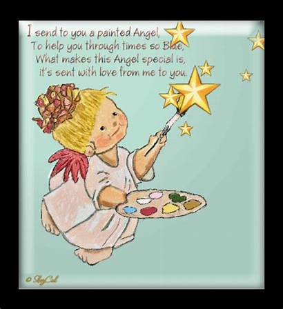 Angel Inspiration Angels Cards Animated Encouragement Card