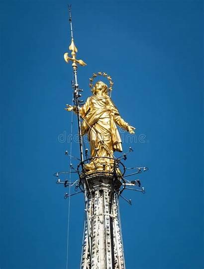 Statue Dame Notre Inside Milan Madonna Cathedral