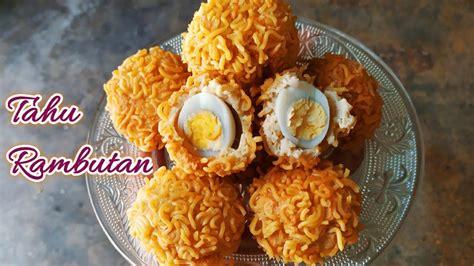 Kecuali telur rebus, masak semua bahan yang sudah disiapkan dengan api kecil sampai air santan menyusut 7. Resep Bola Tahu Rambutan Isi Telur Puyuh Cemilan Kekinian Yang Enak Banget - YouTube