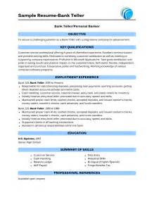 bank teller responsibilities for resume resume objective for a bank teller personal banker