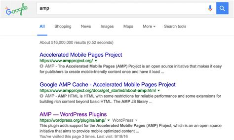 Google Amp Breaks The Desktop Search Results  Search Engine Land
