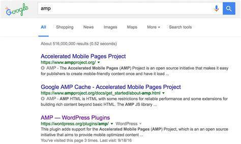 Google Amp Breaks The Desktop Search Results
