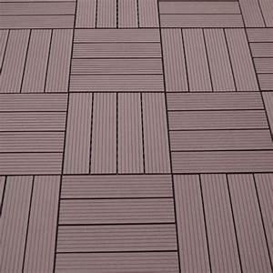 WPC Terrassen Fliesen Braun Sichtschutz Weltde