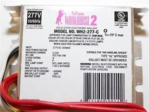 Fulham Workhorse 2 Electronic Instant Start Ballast 277v