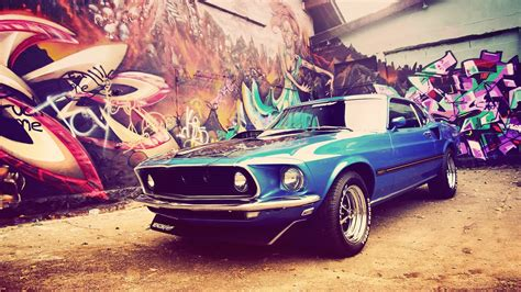 Car Graffiti Wallpaper by Ford Mustang Mach 1 Cars Car Ford Ford Mustang