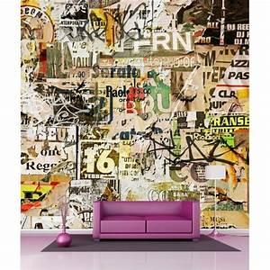 Papier Peint Geant : papier peint g ant d co tag graffiti 250x250cm art d co ~ Premium-room.com Idées de Décoration