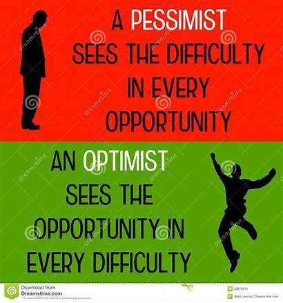Pessimist Optimist Difference Pessimista Ottimista Cynicism Optimiste
