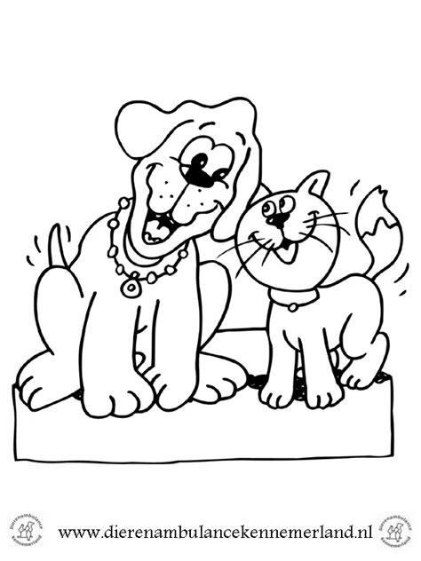 Kleurplaat Elsa Hondje kleurplaten dierenambulance kennemerland