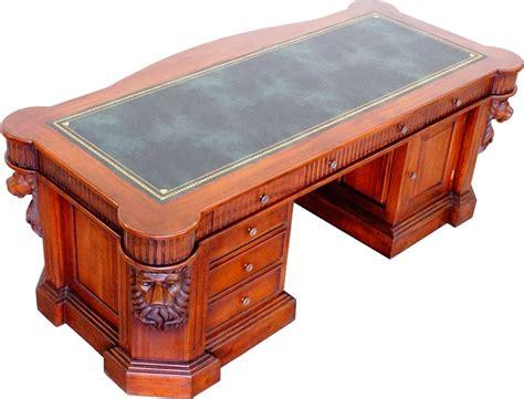 bureau en acajou bureau ambassadeur acajou tte de kirtling meuble de style