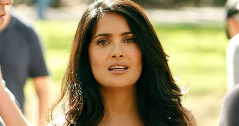 mexican actress salma hayek hot  red dress tollywood boost