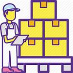 Warehouse Icon Checking Goods Manager Worker Warehousing