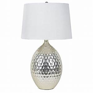 decor therapy hammered ceramic table lamp in silver with With silver ceramic floor lamp