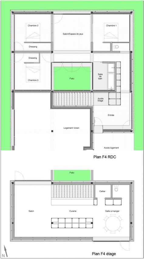 plans de maisons avec patio image maison moderne