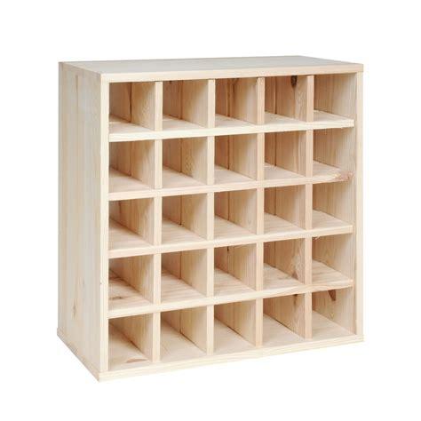 wine rack portabottiglie vino cube 52 in legno cantinetta vino plus it