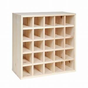 Casier à Bouteilles En Bois : casier vin cube 52 en bois non trait tag re a vin ~ Teatrodelosmanantiales.com Idées de Décoration