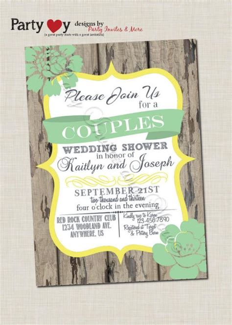 couple s wedding shower invitation couples shower