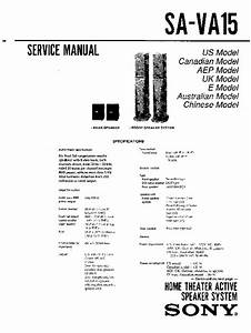 Sony Sa-va15 Service Manual