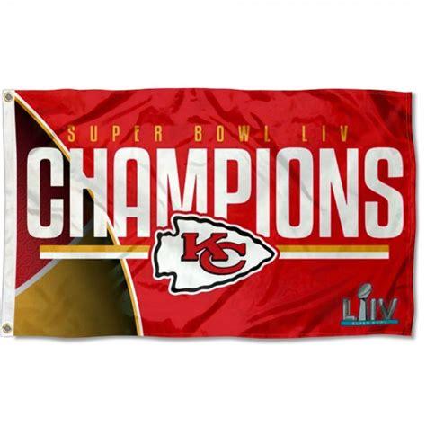 Kansas City Chiefs 2020 Super Bowl Liv Champions 3x5 Flag