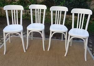 Chaise Bois Blanc : chaise bistrot bois blanc ~ Teatrodelosmanantiales.com Idées de Décoration