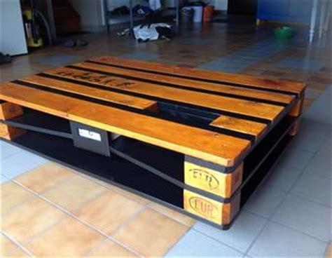 le de bureau à led table basse industrielle palette avec chargeur usb