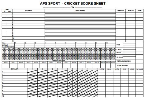 cricket score sheets excel word excel templates