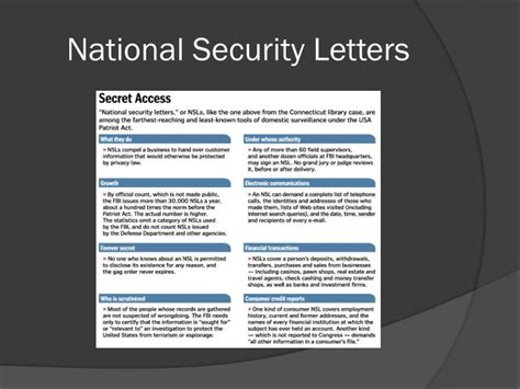national security letters ppt politics and privacy the misinformation age by meg 50147