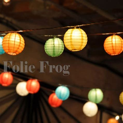 paper lantern string lights outdoor living