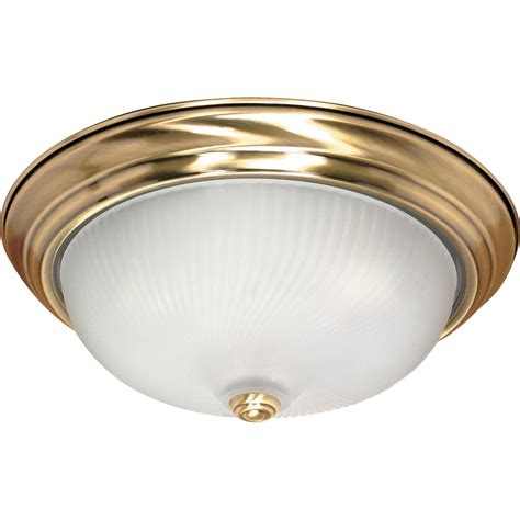 antique brass flush mount ceiling light nuvo lighting 60239 3 light medium base 15 25
