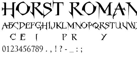 horst roman gothic font gothic modern pickafontcom