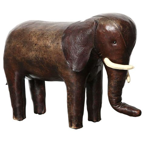 Elephant Ottoman - abercrombie and fitch co leather elephant ottoman at 1stdibs
