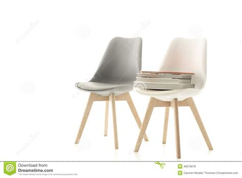chaise grise et blanche un assortiment de la chaise moderne grise et blanche photo stock image 49219078