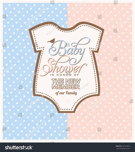 Cute Men Templates by Cute Unisex Baby Shower Design Template Stock Vector