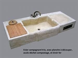 Evier Cuisine En Pierre : vier en pierre reconstitu e pierre brique realisation ~ Premium-room.com Idées de Décoration