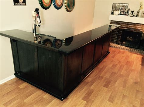 Black Home Bar by Crafted Walnut In Home Bar By Black Beard Woodworking