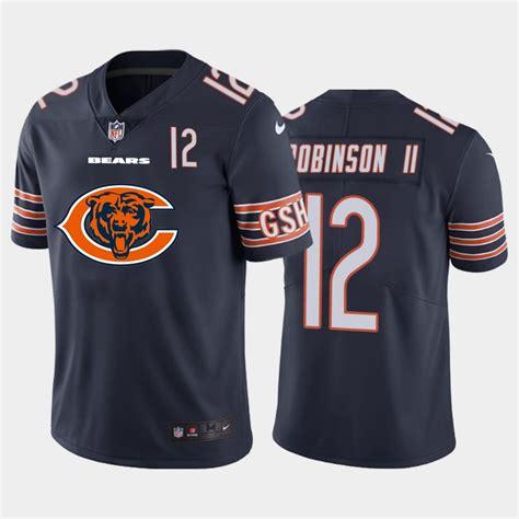 New Nike Bears 12 Allen Robinson II Navy Team Big Logo ...