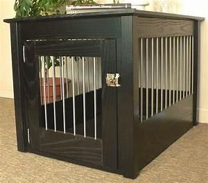 Amish made oak hardwood dog crate end tables dog crates for Amish wooden dog crates