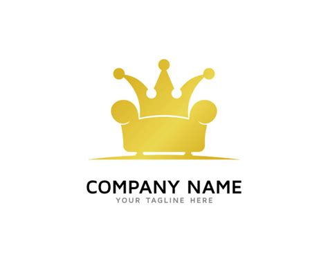 king furniture logo design vector premium