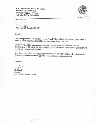 Letter September Clearance Permanent Waiver March Services
