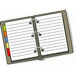 Clipart Planner Weekly Transparent Diary Clip Binder