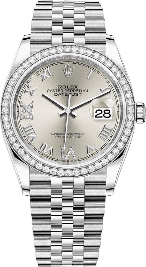 126284rbr Silver Roman VI IX Jubilee Rolex Datejust 36mm ...
