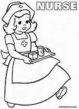 Nurse Coloring Pages Sheet Colorings Coloringway sketch template