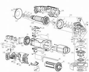 Dewalt Dwe43113 Type 1 Angle Grinder Parts