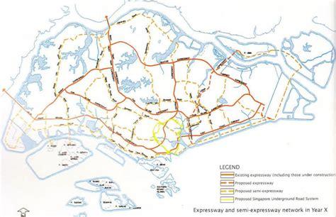 sg highway map singapore highway map republic  singapore
