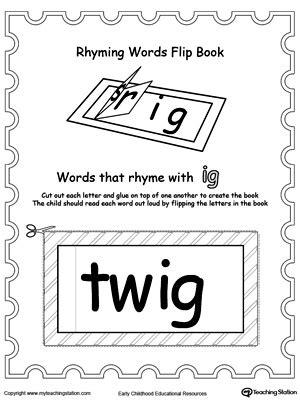 ig word family workbook  kindergarten