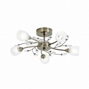 Douglas ab light ceiling fitting in antique brass with
