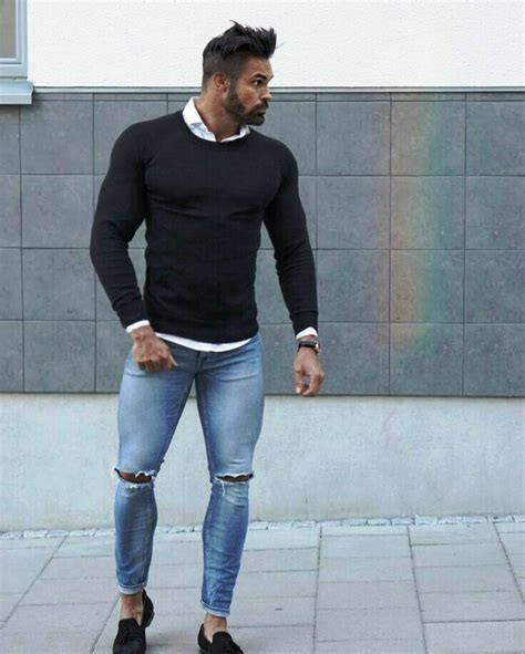 25 Trendy Ripped Jeans Outfit Ideas For Men - Instaloverz