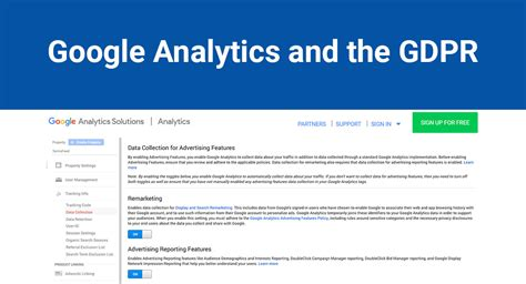 Google Analytics And The Gdpr