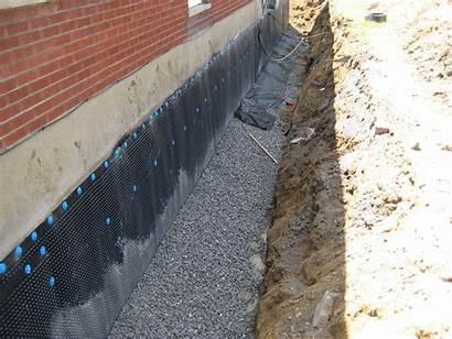 Foundation Tile Drainage Weeping Membrane Wall Repair