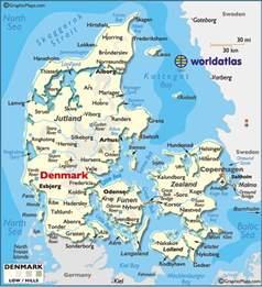 Denmark Jutland Peninsula Map